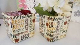 DOLLAR TREE DIY  MOD PODGE NAPKIN CONTAINER