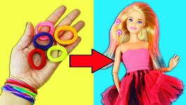 10 AMAZING BARBIE DOLL HACKS -1- Easy doll crafts in 5 minutes or less