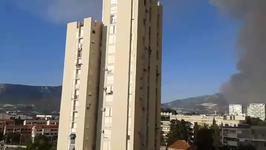 Sky Darkens with Smoke as Wildfires Rage in Split, Croatia