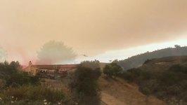 California Whittier Fire's Growth Slows Overnight