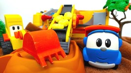Leo the Truck and Excavator Max Bake Bread- Toy Trucks and Kids Toy Videos. Excavator for Kids.
