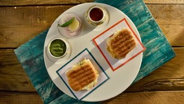 Grilled Pav Sandwich 2 Ways - Grilled Sandwich - Healthy And Delicious Snack Recipes