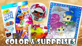Shimmer And Shine Color Wonder Glitter Effects Coloring And Surprises