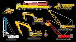 Construction Vehicles 2 - Trucks Cranes & More