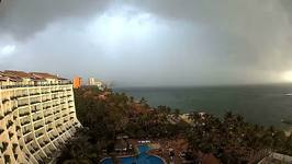 West Coast of Mexico Sees Cloud Cover as Hurricane Franklin Moves Ashore