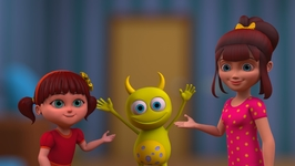 Elsa and Anna Telephone Aliens- Aiken Drum Man On The Moon - Nursery Rhymes