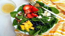 Salad Recipe - Berries, Almond And Mango Salad