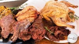 Mixed Grill Recipe - Grilled Steak Chicken Pork - Inkbird IBT-4XS Bluetooth Thermometer