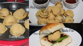Baked Bateta Vadas / Aloo Bondas / Vada Pav