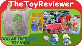 Boys Dollar Tree Haul - 1 Spiderman Smurfs Yo-Kai Watch TMNT Unboxing Toy Review