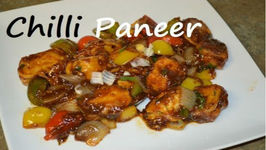 Chilli Paneer - Indo Chinese Cottage Cheese Delitious Dinner