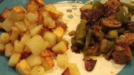 Best Sausage / Zaycon Sausage Served With Home Fries