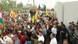 Kurds Gather in Support of Leader Barzani After His Resignation