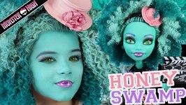 Monster High Honey Swamp Doll Makeup Tutorial for Halloween or Cosplay