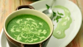 Restaurant Style Cream Of Spinach Soup