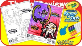 McDonalds Pokémon Sun And Moon Happy Meal Coloring Page Unboxing Toy Review