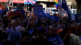 Crowds of 'Yes' Voters Rally For Same-Sex Marriage in Adelaide