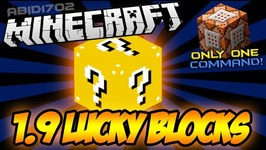 Minecraft - 1.9 LUCKY BLOCKS - Only ONE Command - - NO MODS - VANILLA MINECRAFT