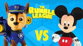 Paw Patrol Toys Vs Mickey Mouse Clubhouse Toys - Disney And Nickelodeon Toy Battle Royal