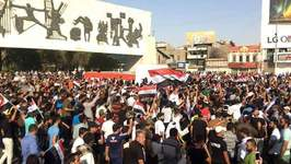 Influential Shiite Cleric Muqtada al-Sadr Leads Thousands in Baghdad Anti-Government Demonstration