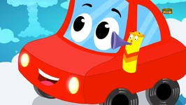 Little Red Car - Wheels on the Car - Kids Rhymes