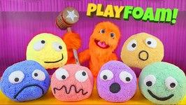 Playfoam Happy Sad Smiley Face Surprise Eggs LEGO Batman Toys Ice Cream