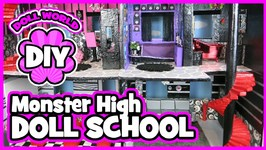 How to Make a Doll School for Monster High Dolls Skull Academy