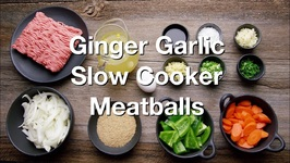 Ginger Garlic - Slow Cooker Meatballs