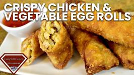 Crispy Chicken And Vegetable Egg Rolls
