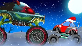 Christmas Songs - Haunted House Monster Trucks - Xmas Songs For Kids by Kids Channel