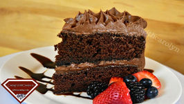 The Best Red Wine Chocolate Layer Cake