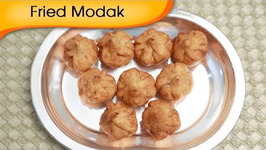 Fried Modak - Sweet Coconut Dumpling - Ganesh Festival Special Recipe By Ruchi Bharani