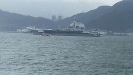 China's First Aircraft Carrier Spotted in Hong Kong