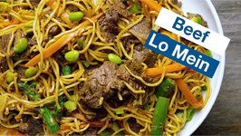 Sensational Beef Lo Mein With Green Veggies