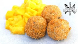 Coconut Rice Arancini With Mango / Easy Dessert Recipe