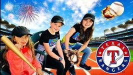 TEXAS RANGERS BASEBALL GAME - Our Day At Ranger Stadium