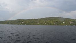 Family Discovers end of the Rainbow During Boat Ride Trip