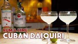Cuban Daiquiri Cocktail 2 Ways