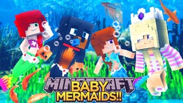 BABY LEAH BECOMES A MERMAID!!! - Minecraft - Little Donny Adventures