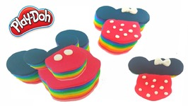 Mickey Mouse Play Doh Cake Rainbow Learning Colors For Kids
