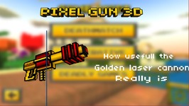 Pixel Gun 3D - Golden Laser Cannon - Best Gun Ever