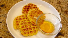 Lemon Ricotta Cheese Waffles