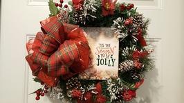 EASY DOLLAR TREE CHRISTMAS WREATH 2017  HOLIDAY DECOR