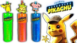 Pokemon DETECTIVE PIKACHU MOVIE CUPS GAME w/ Kinetic Sand & Surprise Toys