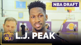 Lakers Draft Prospect - L J Peak Interview - Georgetown, Guard