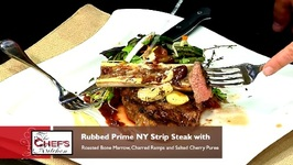 Chef Anthony Bonett-Rubbed Prime NY Strip Steak With Roasted Bone Marrow