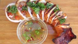 Inihaw Nga Pusit - Grilled Squid