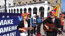 Protesters Dressed Like Trump Sing 'Give Climate a Chance' Ahead of Hamburg G20 Meeting