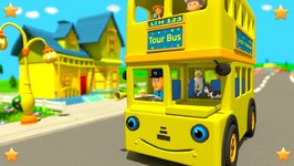 Yellow Wheels On The Bus And More Rhymes -  Episode 48