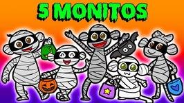 5 Monitos Saltando En La Cama - Un Cuento De Halloween - Cuentos Infantiles
